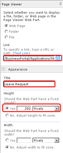 Add Leave Request Web Part Image 9