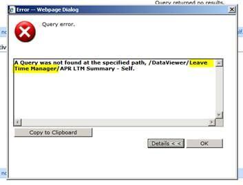 CLM Query Error Image 2