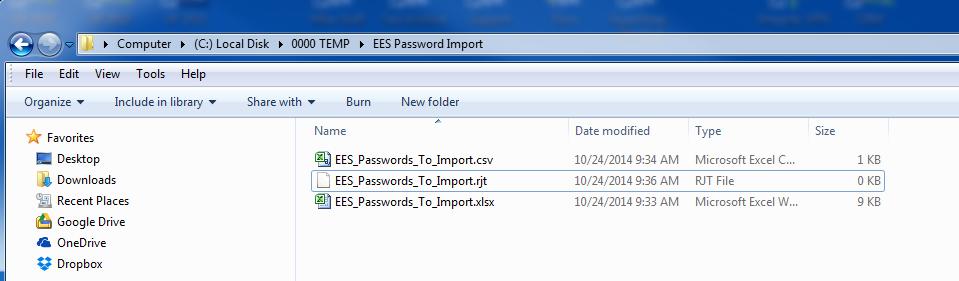 EES Passwords 2
