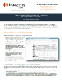 ACA Compliance Fact Sheet
