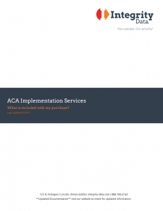 ACA Implementation Services Document