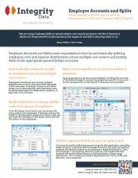 Employee Accounts and Splits Fact Sheet