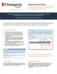 Employee E-Mail Suite Fact Sheet
