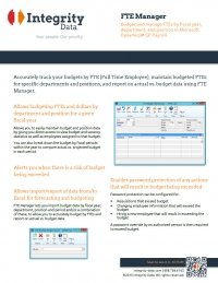 FTE Manager Fact Sheet