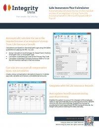 Life Insurance Tax Calculator Fact Sheet