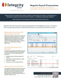Negative Payroll Transactions Fact Sheet