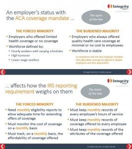 Forced Minority Burdened Majority comparison_Integrity Data ACA Compliance Solution