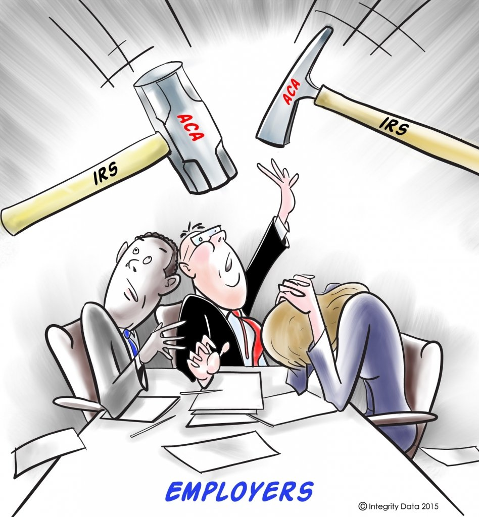IRS hammers cartoon_Integrity Data ACA Compliance Solution
