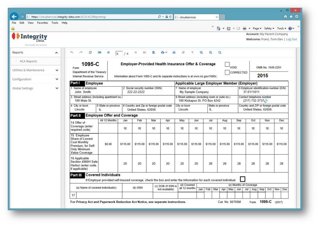 IntegrityData_IRS Form 1095-C