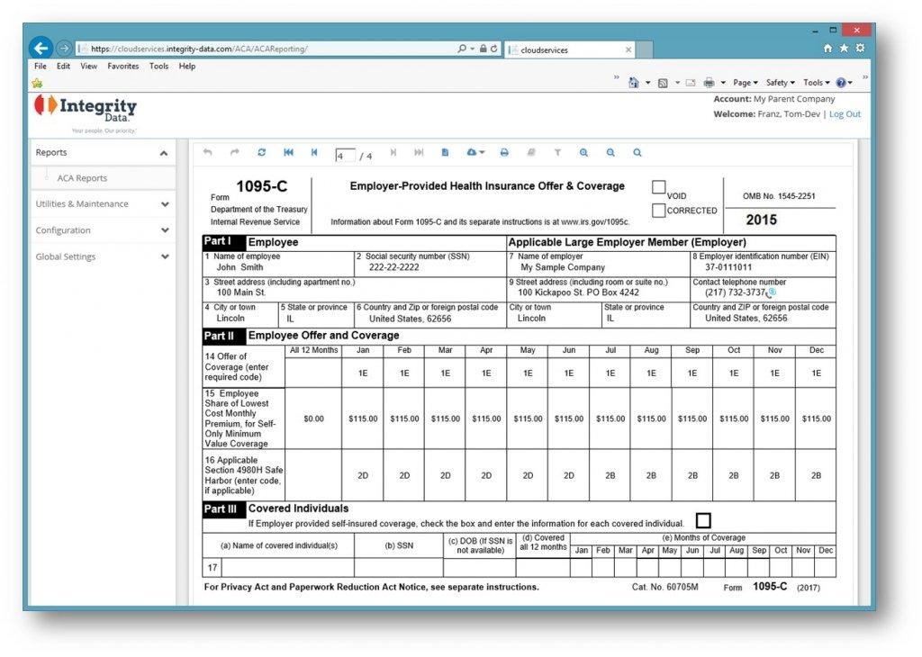 IntegrityData_IRS Form 1095-C