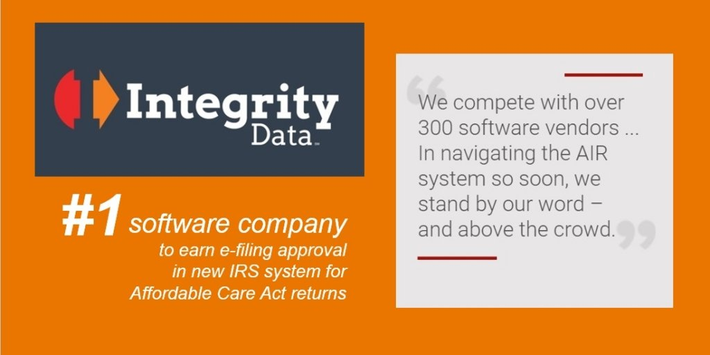 A step ahead in ACA efiling_Integrity Data ACA Compliance Solution