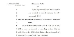 Integrity Data snippet_repeal ACA automatic enrollment