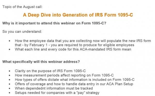 1095-C webinar invite
