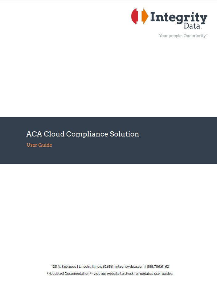 ACA Compliance Solution User Guide
