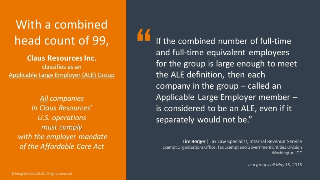 ALE Group definition_Integrity Data ACA Compliance