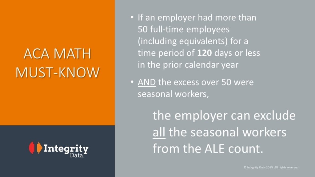 ALE Math_Seasonal Workers_Integrity Data ACA Compliance