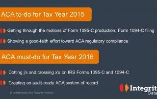 ACA to-do 2015 ACA must-do 2016_Integrity Data