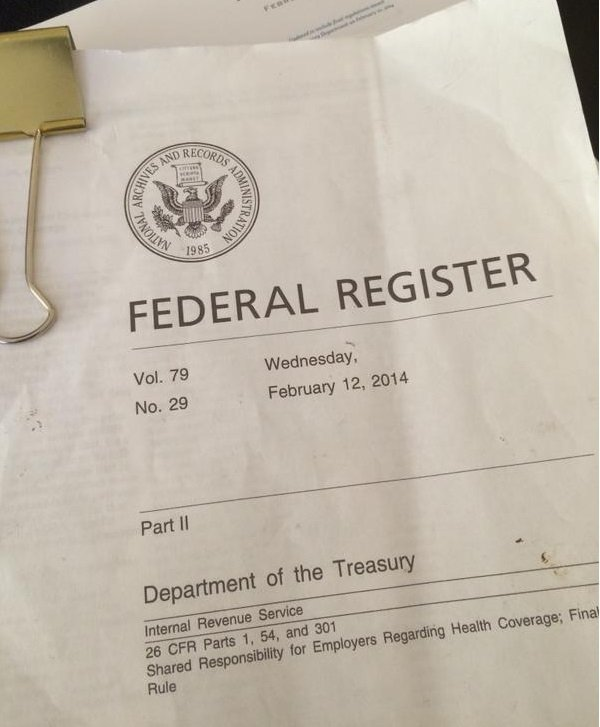 February 12, 2014 copy of ACA pay-or-play regulations_Integrity Data