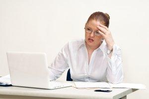 Stressed HR Woman
