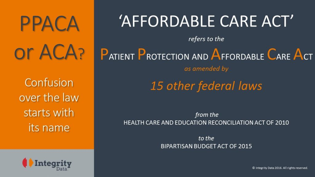 Clearing PPACA vs ACA confusion_Integrity Data