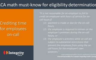 crediting ACA on-call hours_Integrity Data