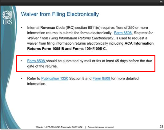 Irs Extensions And Waivers For Aca Forms Tax Year 2016 Integrity