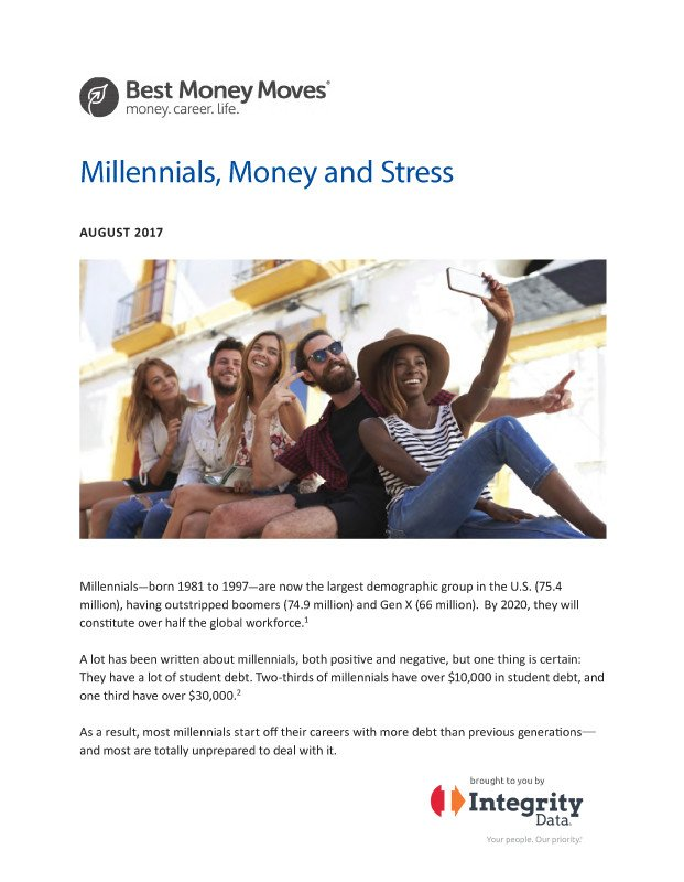 Millenials, Money and Stress White Paper