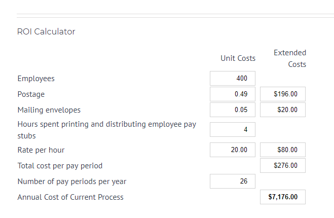 Employee E-Mail Suite ROI Calculator