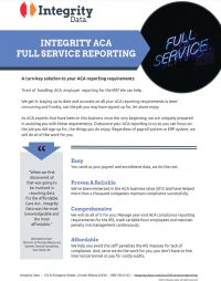 Download our ACA Full Service Fact Sheet