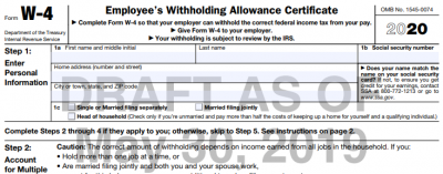 "new w 4 form 2020  IRS Releases an ""Early"" Draft of the 8 W-8 - ERP Software ..."
