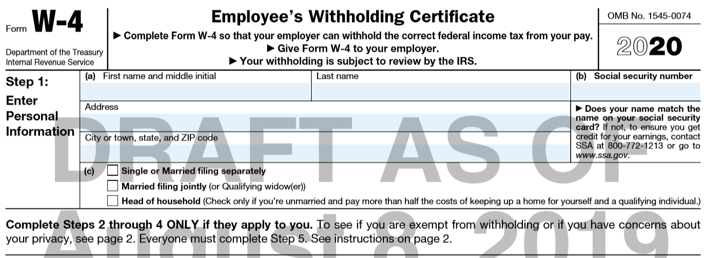 "new w 4 form 2020  IRS Releases ""Final"" Draft of 8 W-8 - Integrity Data"