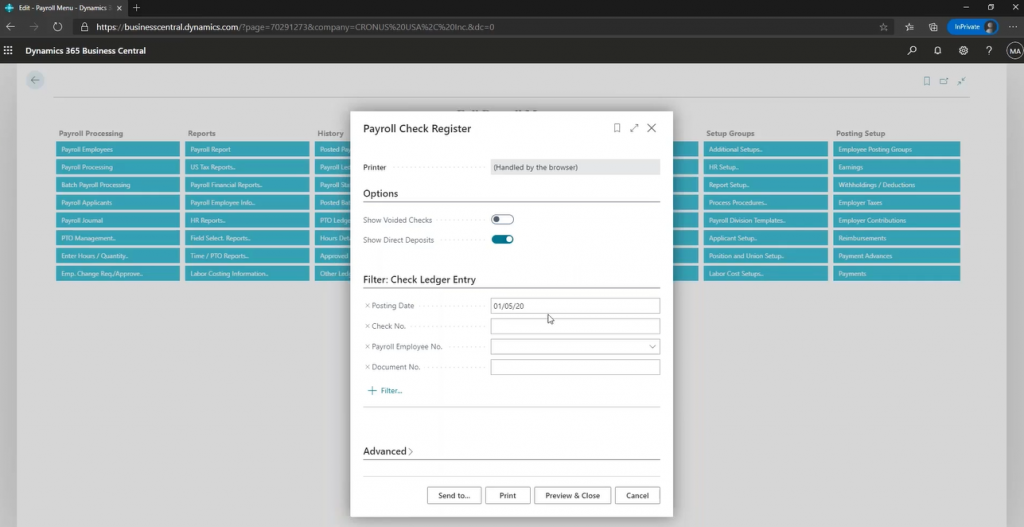 Explore Dynamics 365 Business Central Payroll Reporting with Payroll NOW